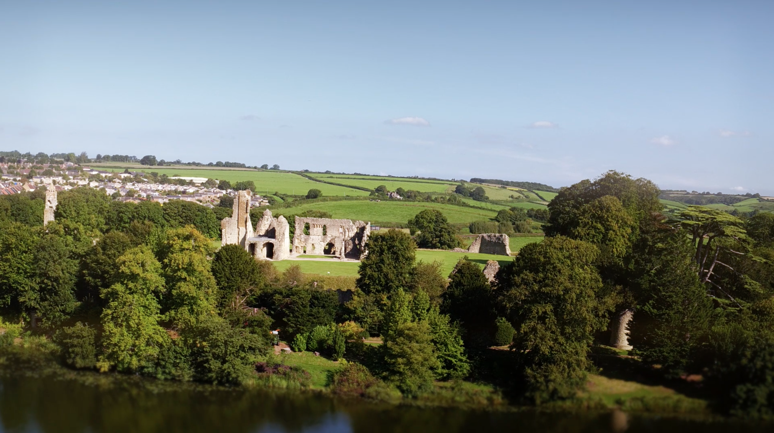 Visit Rural Dorset Promotional video South West. A view of a part of Sherborne and it's beautiful buildings